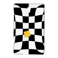 Dropout Yellow Black And White Distorted Check Samsung Galaxy Tab S (8 4 ) Hardshell Case  by designworld65
