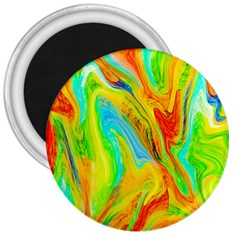 Happy Multicolor Painting 3  Magnets by designworld65