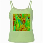 Happy Multicolor Painting Green Spaghetti Tank