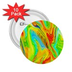 Happy Multicolor Painting 2.25  Buttons (10 pack)