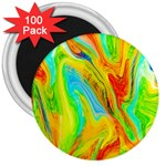 Happy Multicolor Painting 3  Magnets (100 pack)