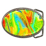 Happy Multicolor Painting Belt Buckles