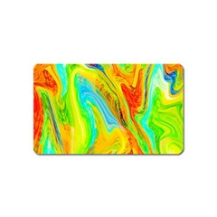 Happy Multicolor Painting Magnet (name Card) by designworld65