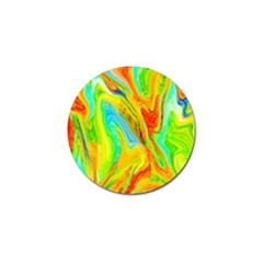 Happy Multicolor Painting Golf Ball Marker (10 Pack) by designworld65