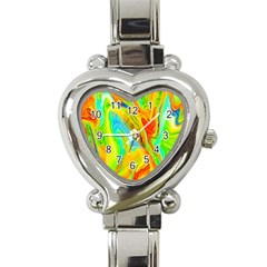 Happy Multicolor Painting Heart Italian Charm Watch by designworld65