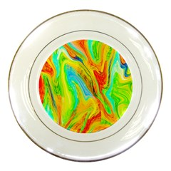 Happy Multicolor Painting Porcelain Plates by designworld65