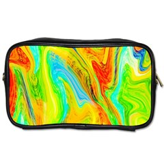 Happy Multicolor Painting Toiletries Bags 2 Side by designworld65
