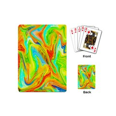 Happy Multicolor Painting Playing Cards (mini)  by designworld65