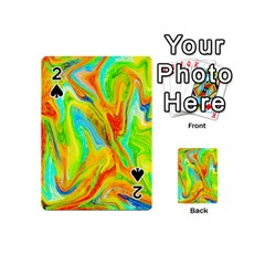 Happy Multicolor Painting Playing Cards 54 (mini)  by designworld65