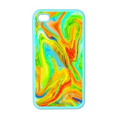 Happy Multicolor Painting Apple Iphone 4 Case (color) by designworld65