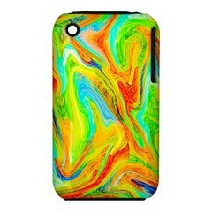 Happy Multicolor Painting Apple Iphone 3g/3gs Hardshell Case (pc+silicone) by designworld65