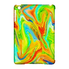 Happy Multicolor Painting Apple Ipad Mini Hardshell Case (compatible With Smart Cover) by designworld65