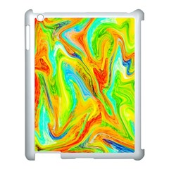 Happy Multicolor Painting Apple Ipad 3/4 Case (white) by designworld65
