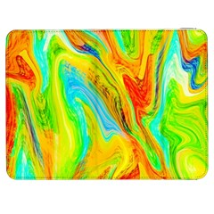 Happy Multicolor Painting Samsung Galaxy Tab 7  P1000 Flip Case by designworld65