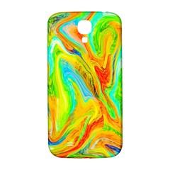 Happy Multicolor Painting Samsung Galaxy S4 I9500/i9505  Hardshell Back Case by designworld65