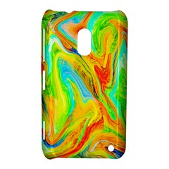 Happy Multicolor Painting Nokia Lumia 620 by designworld65