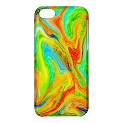 Happy Multicolor Painting Apple Iphone 5c Hardshell Case by designworld65