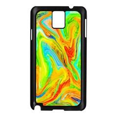 Happy Multicolor Painting Samsung Galaxy Note 3 N9005 Case (black) by designworld65