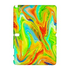 Happy Multicolor Painting Samsung Galaxy Note 10 1 (p600) Hardshell Case by designworld65