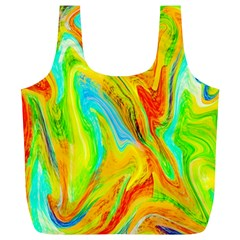 Happy Multicolor Painting Full Print Recycle Bags (l)  by designworld65