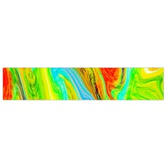 Happy Multicolor Painting Flano Scarf (small) by designworld65