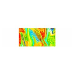 Happy Multicolor Painting Satin Scarf (oblong) by designworld65