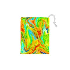 Happy Multicolor Painting Drawstring Pouches (xs)  by designworld65