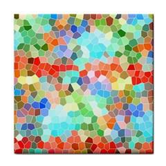 Colorful Mosaic  Tile Coasters by designworld65