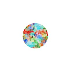 Colorful Mosaic  1  Mini Buttons by designworld65