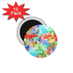Colorful Mosaic  1 75  Magnets (10 Pack)  by designworld65
