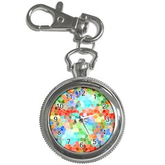 Colorful Mosaic  Key Chain Watches by designworld65