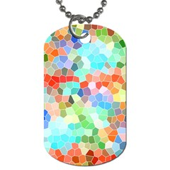Colorful Mosaic  Dog Tag (two Sides) by designworld65
