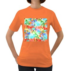 Colorful Mosaic  Women s Dark T Shirt by designworld65