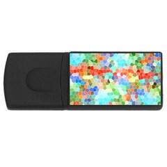 Colorful Mosaic  Usb Flash Drive Rectangular (4 Gb)  by designworld65
