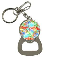 Colorful Mosaic  Bottle Opener Key Chains by designworld65