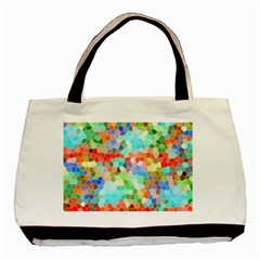 Colorful Mosaic  Basic Tote Bag by designworld65
