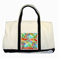 Colorful Mosaic  Two Tone Tote Bag by designworld65