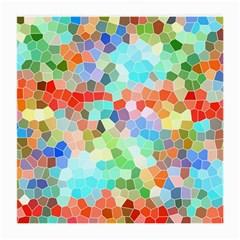Colorful Mosaic  Medium Glasses Cloth by designworld65
