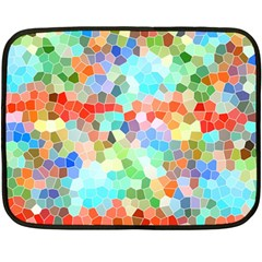 Colorful Mosaic  Double Sided Fleece Blanket (mini)  by designworld65