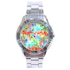 Colorful Mosaic  Stainless Steel Analogue Watch by designworld65
