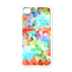 Colorful Mosaic  Apple Iphone 4 Case (white) by designworld65