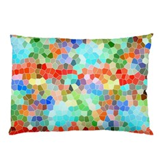 Colorful Mosaic  Pillow Case (two Sides) by designworld65