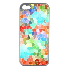 Colorful Mosaic  Apple Iphone 5 Case (silver) by designworld65