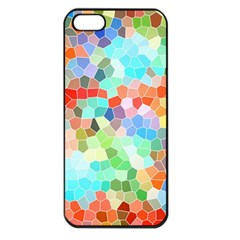 Colorful Mosaic  Apple Iphone 5 Seamless Case (black) by designworld65