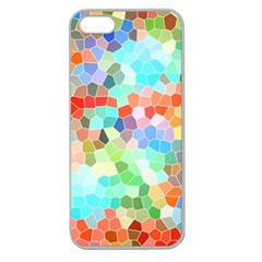 Colorful Mosaic  Apple Seamless Iphone 5 Case (clear) by designworld65