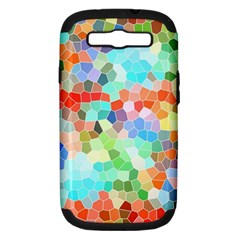 Colorful Mosaic  Samsung Galaxy S Iii Hardshell Case (pc+silicone) by designworld65
