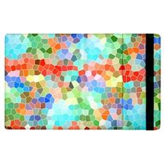 Colorful Mosaic  Apple Ipad 2 Flip Case by designworld65