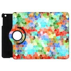 Colorful Mosaic  Apple Ipad Mini Flip 360 Case by designworld65