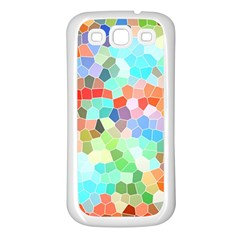 Colorful Mosaic  Samsung Galaxy S3 Back Case (white) by designworld65