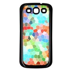 Colorful Mosaic  Samsung Galaxy S3 Back Case (black) by designworld65